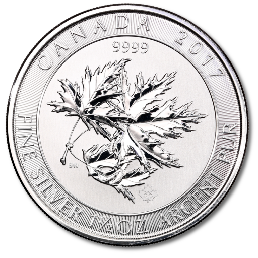 1.5 oz Multi Maple Leaf | Silver | 2017