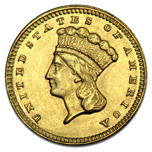 1 Dollar Grand Indian Princess | Gold | 1856-1889