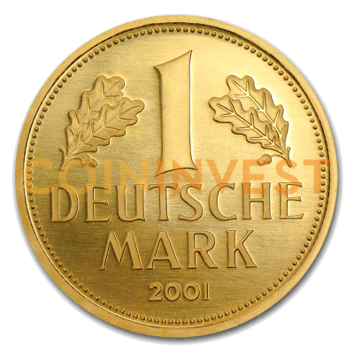 1 Goldmark Gold Coin (2001) Mintmark D