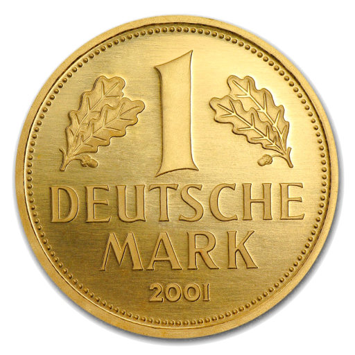 1 Goldmark Gold Coin (2001) Mintmark G