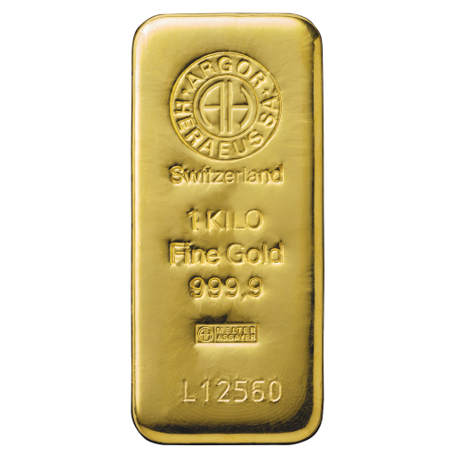 1 Kilo Gold Bar | Argor Heraeus