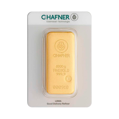1 Kilo Gold Bar | C.Hafner