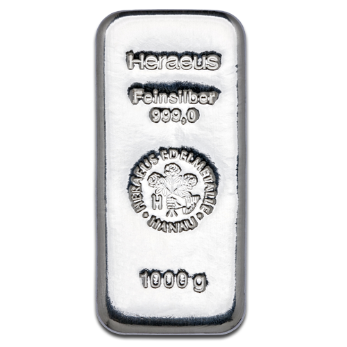 1 Kilo Silver Bar - Different Manufacturers