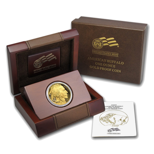 1 oz American Buffalo | Gold | 2009 | Proof | Wooden Box
