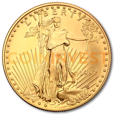 1 Oz American Eagle Gold Coin Mixed Years Coininvest