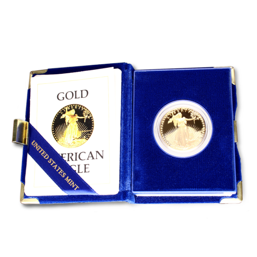 Золотая монета Американский Орел 1 унция 1986 (American Eagle) Proof