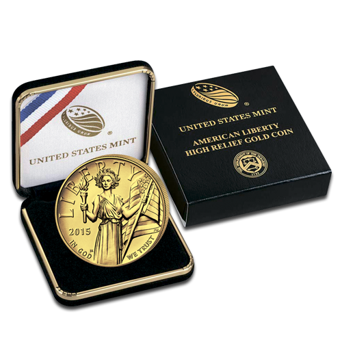 1 oz American Liberty | Gold | Proof | Hochrelief | 2015