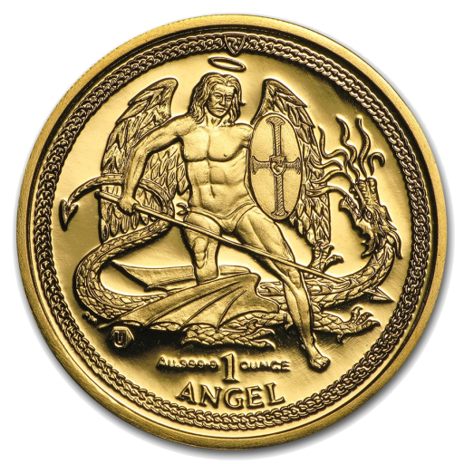 1 oz Angel Isle of Man | Oro | varios años