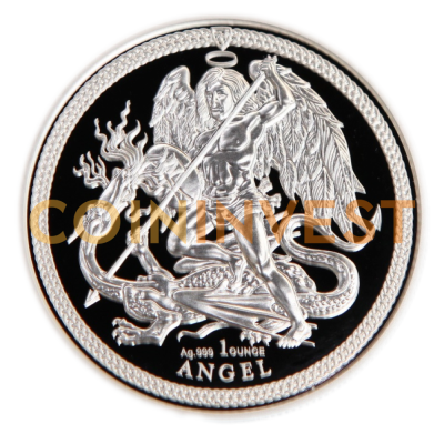 1 oz Angel Isle of Man d'argent PU (2018)