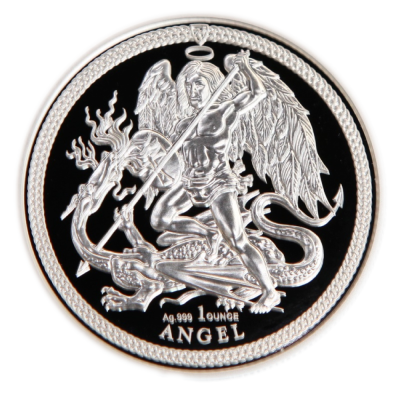 1 oz Angel Isle of Man PU | Plata | 2018