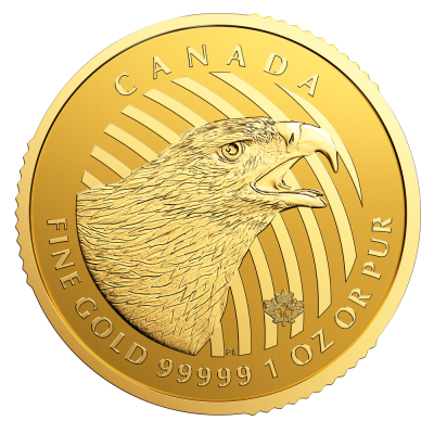 "1 oz Call of the Wild ""Goldener Adler"" 999.99 Goldmünze (2018)"