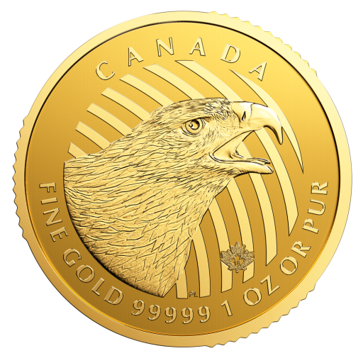 "1 oz Call of the Wild ""Golden Eagle"" .99999 Gold Coin (2018)"
