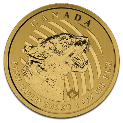 1 oz Call of the Wild Growling Cougar | Or | 2015