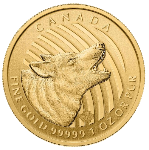 1 oz Call of the Wild Howling Wolf .99999 Gold Coin (2014)