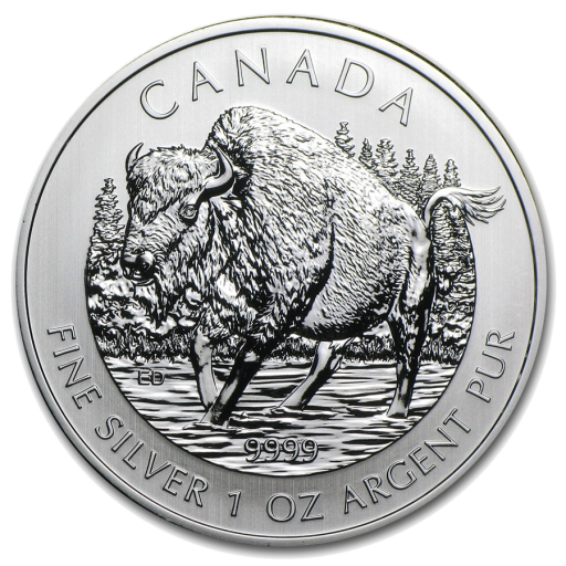 1 oz Canadian Bison Wildlife Series | Silver | 2013