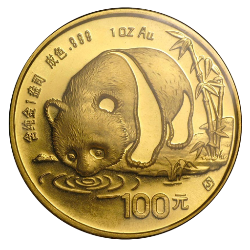 1 oz Panda Chinois | Or | 1987