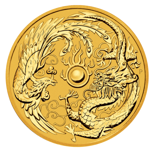 1 oz Dragon et Phoenix | Or | 2018