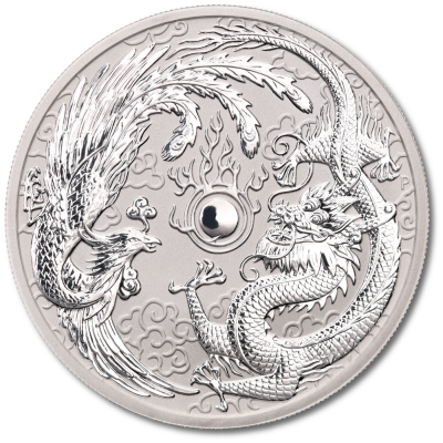 1 oz Dragon and Phoenix Silver Coin (2017)