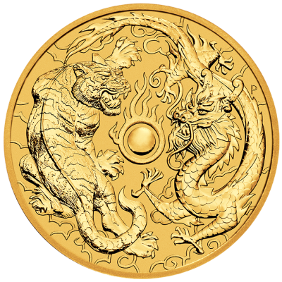1 oz Dragon and Tiger Gold Coin (2019)