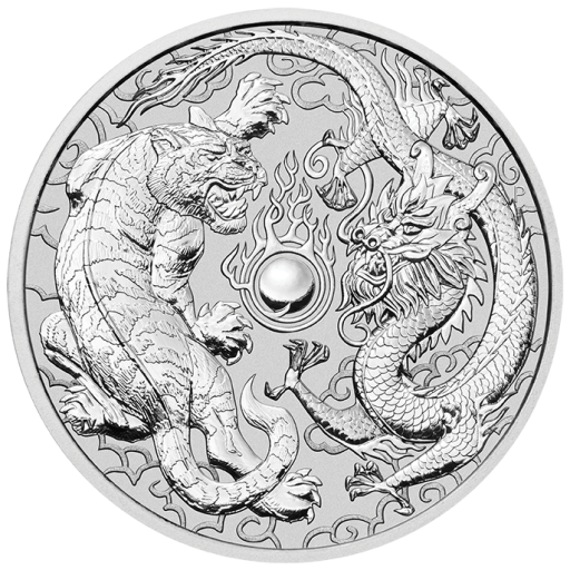 1 oz Dragon and Tiger Silver Coin (2018)
