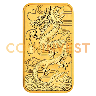 1 oz Dragon Rectangle Goldmünze (2018)