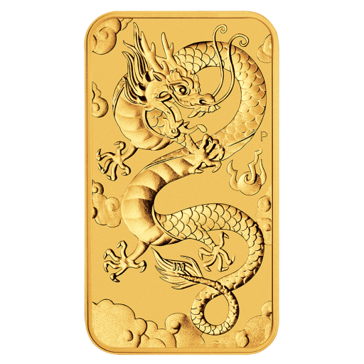 1 oz Dragon Rectangular Gold Coin