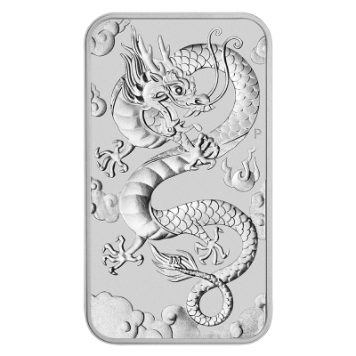 1 oz Dragon Rectangular Silver Coin (2019)