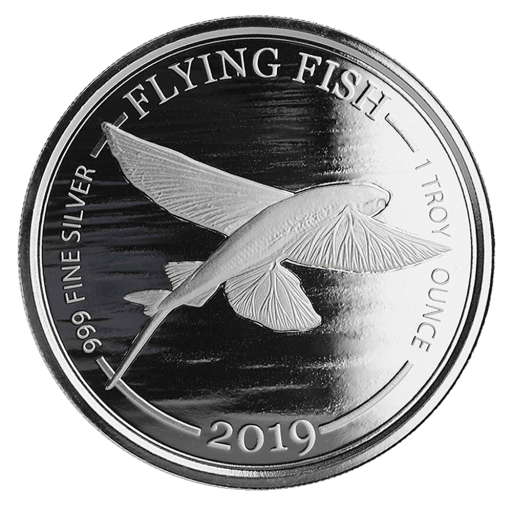 1 oz Flying Fish Silver Coin (2019)