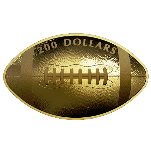 1 oz Football Coin | Gold | 2017 | Mintage only 550 pieces