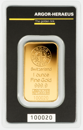 1 oz Lingot d'Or | Argor-Heareus