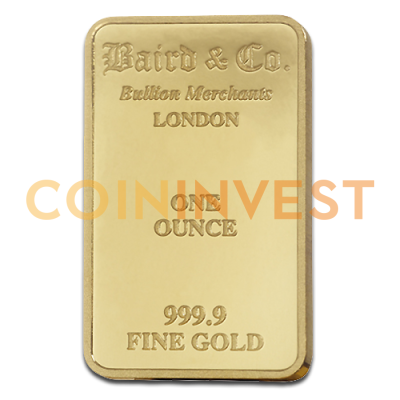 1 oz Goldbarren | Baird & Co.