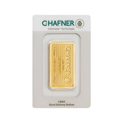 1 oz Gold Bar | C.Hafner