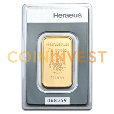 1 oz Goldbarren | Heraeus