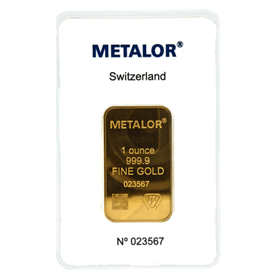 1 oz Gold Bar | Metalor