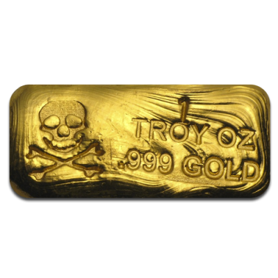 1 oz Goldbarren | Totenkopf-Edition | PG&G