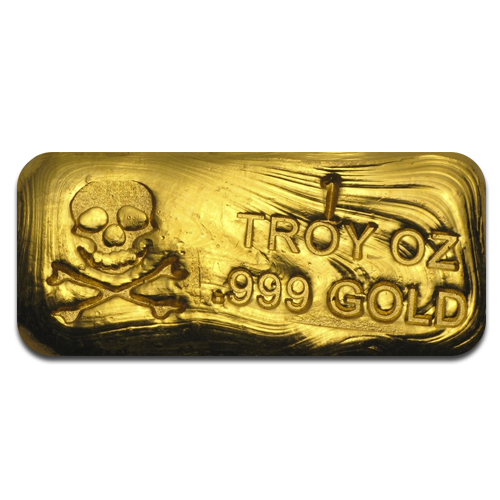 1 oz Gold Bar | Skull & Bones Edition | PG&G