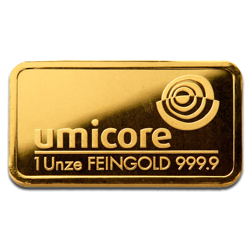 1 oz Lingot d'Or | Umicore
