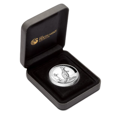 1 oz Kangaroo High Relief Silver Coin (Proof)