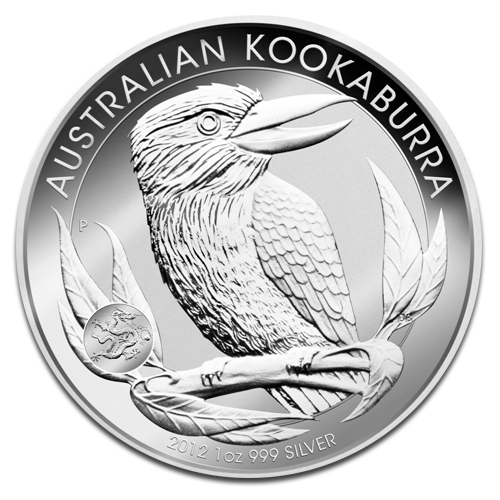 1 oz Kookaburra Privy Mark Dragon | Argent | 2012