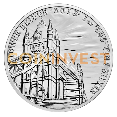 1 oz Landmarks of Britain - Tower Bridge | Plata | 2018