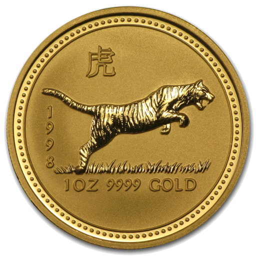 1 oz Lunar I Tiger | Gold | 1998