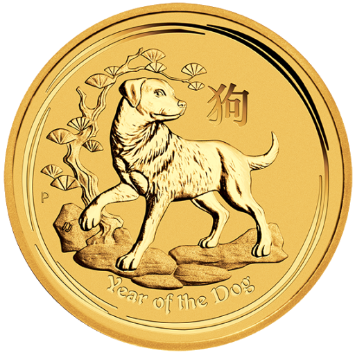 1 oz Lunar II Chien | Or | 2018