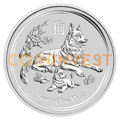1 oz Lunar II Dog | Silver | 2018