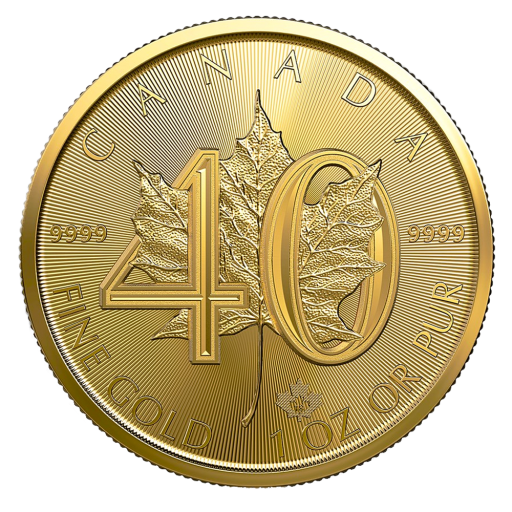 1 oz Maple Leaf 40th Anniversary Gold Coin (2019)