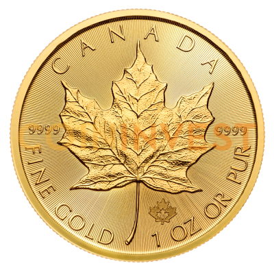 1 oz moneta d'oro Maple Leaf (2018)