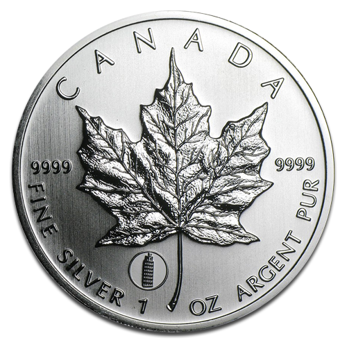 "1 oz Maple Leaf Privy Mark ""Leaning Tower of Pisa"" 