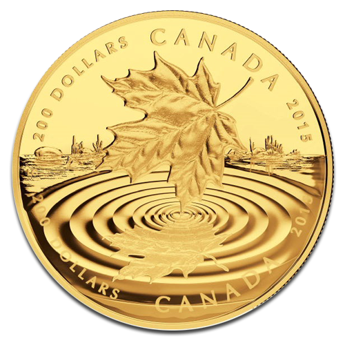 1 oz Maple Leaf Reflection | Gold | Proof | 2015