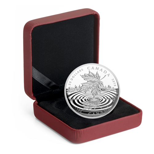 1 oz Maple Leaf | Argento | Fondo a Specchio Proof | 2015