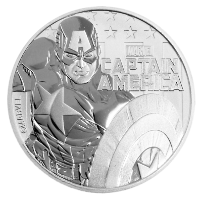 1 oz Marvel's Captain America Silbermünze (2019)