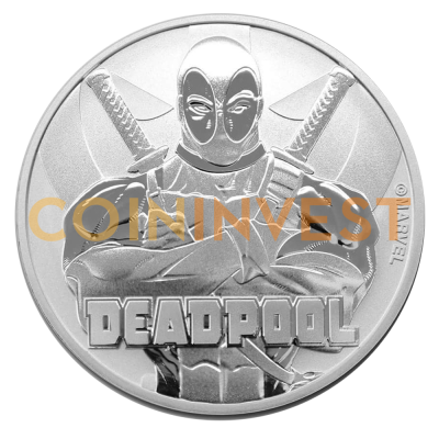 1 oz Marvel's Deadpool Silver Coin (2018)
